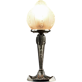 Georges LELEU French Art Deco Table Lamp 1925