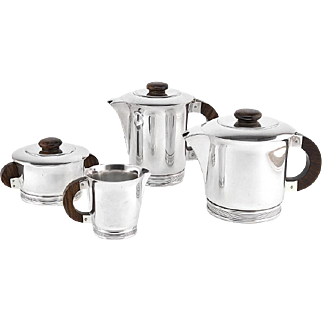 ERCUIS French Art Deco Silver Plated Tea/Coffee Set 1925