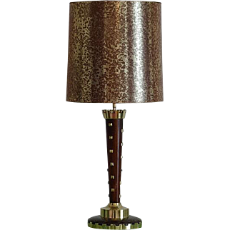 Genet & Michon Large French Art Deco Table Lamp ca.1930