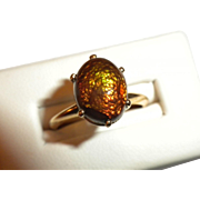 THE FINEST Vintage 14kt Gold & Mexican Fire Agate - Custom Made RING - Retail was over $1200.00
