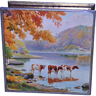 Co-Operative Wholesale Society (CWS) Biscuits- Cattle at the Lakeside c.1915