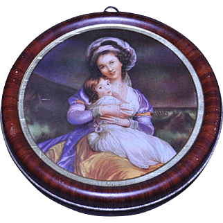 Roundtree Chocolate tin Mother and Child - Old Masters Portrait c. 1920-30