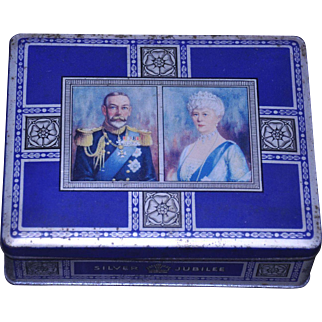 Mcvitie & Price Biscuits Silver Jubilee Sample Tin 1935