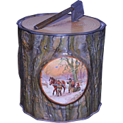 MacFarlane, Lang & Co. Yule Log Biscuit Tin 1910