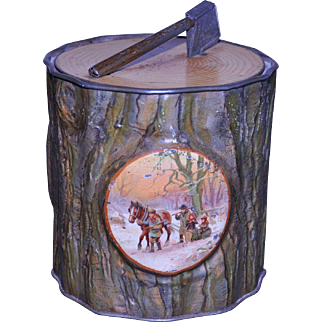 MacFarlane, Lang & Co. Yule Log Biscuit Tin 1910
