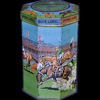 Lyon's Tea Grand National Tin c. 1920's