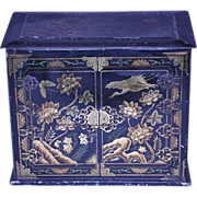 W. R. Jacob Chinese Lacquer Tea Caddy Biscuit Tin 1924