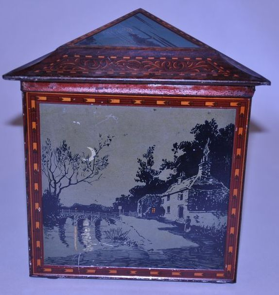 Huntley And Palmers Silhouette Biscuit Tin 1914 From