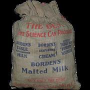 Vintage Borden's Milk Lewis & Clark's Exposition 1905 Souvenir Sack Bag