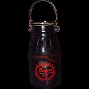 "Vintage Borden's 12"" Milk Bottle with Handle"