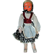 """HALF PRICE 13"""" 1950s Mask Face Cloth Russian Peasant doll"""