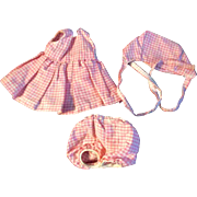 """Vintage Mommy Hand Made Lavender Outfit for Ginny Muffie or other 8"""" Doll"""