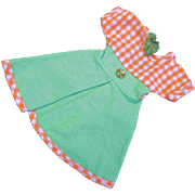 "Jill other 10"" Fashion Doll 1950s 1960s Green Orange Check Dress"