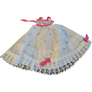 """1950s Vogue Jill Uneeda Tiny Teen Other 10"""" Fashion Doll Fancy White Pink Dress"""
