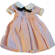 """1950s Vogue Jill Uneeda Tiny Teen Other 10"""" Fashion Doll Pink White Day Dress"""