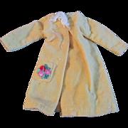 "1950s Vogue Jill Uneeda Tiny Teen Other 10"" Fashion Doll Yellow Velveteen Coat Dress"