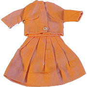 "1950s Vogue Jill Uneeda Tiny Teen Other 10"" Fashion Doll Orange Skirt Blouse Outfit"