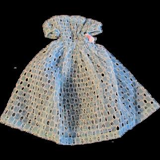 "1950s Vogue Jill Uneeda Tiny Teen Other 10"" Fashion Doll Blue Open Work Evening Dress"