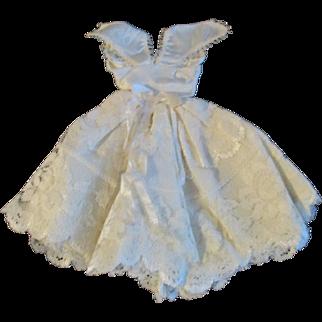 "1950s Vogue Jill Uneeda Tiny Teen Other 10"" Fashion Doll Cream Satin Evening Dress"