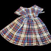 "1950s Vogue Jill Uneeda Tiny Teen Other 10"" Fashion Doll Cotton Plaid Dress"