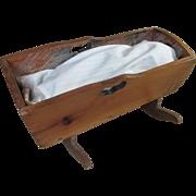 "13.5"" Handmade Wood Wooden Doll Cradle"