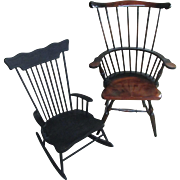 PR Doll Vintage Hitchcock Chair and Rocker Rocking
