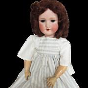 "Beautiful 24.5"" A. M. Armand Marseille 390 Doll Original Mohair Wig"