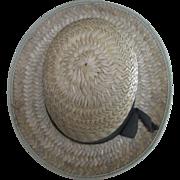 """20"""" Vintage Women's Straw Hat"""