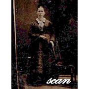 Tintype Ferrotype Standing Woman 19th Century