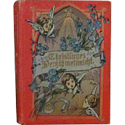 3.75' Christmas Book German Illustrated Great Shape!