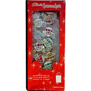 Set Vintage Silvestri Christmas Lights Covers Carriage Coach