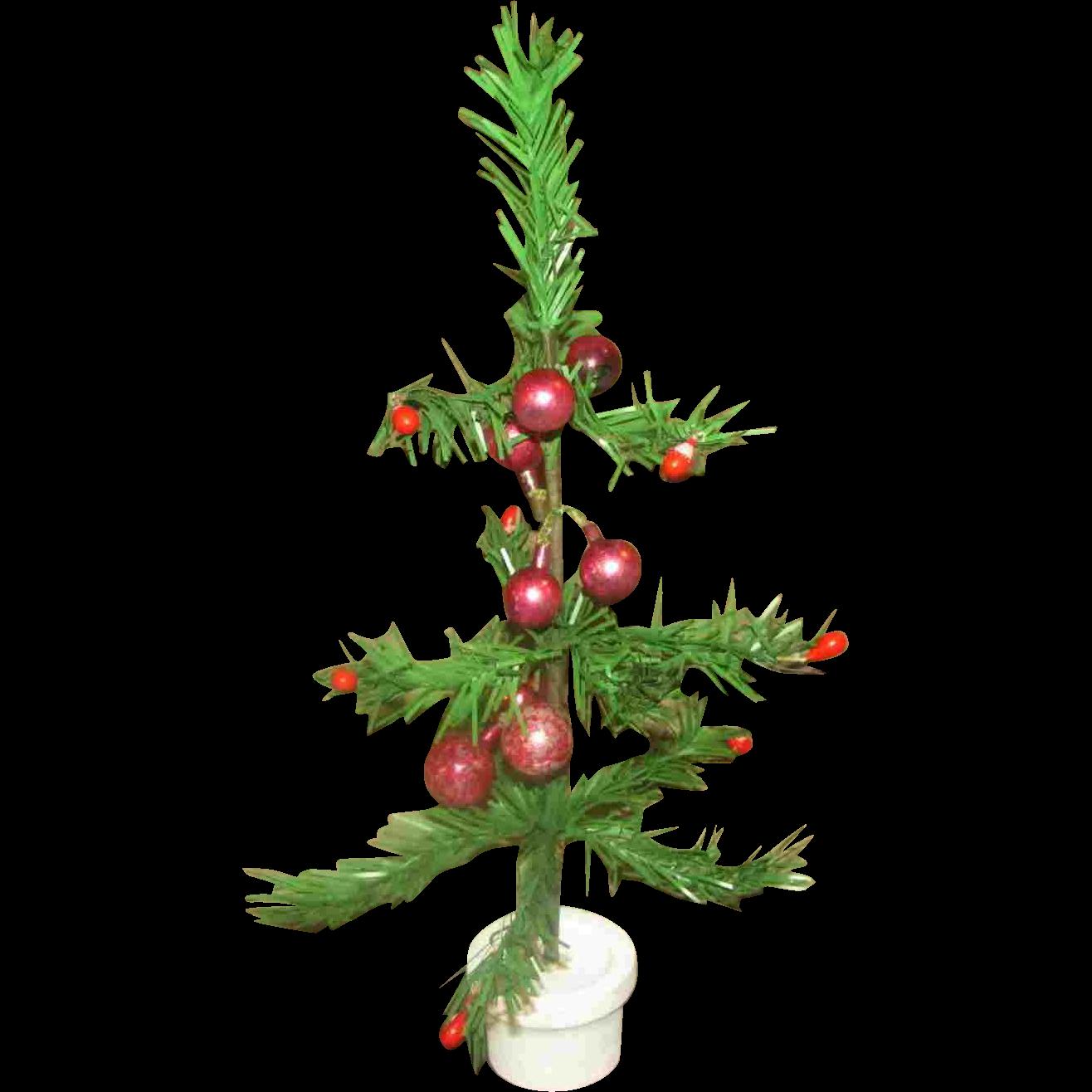 Miniature vintage christmas tree glass ornaments japan