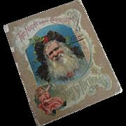 "12"" Large Vintage Night Before Christmas Clement Moore Poem Book Santa"