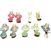 Nine Antique Victorian Christmas Tree Candle Holders Clips