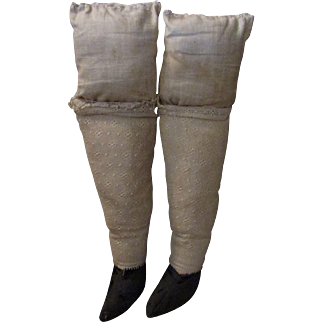 PR Cloth Legs with Shoes for Antique Doll Body