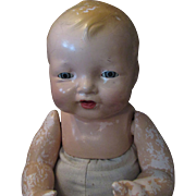 Vintage F&B Effanbee Chubby Smiling Composition Baby Doll AS IS