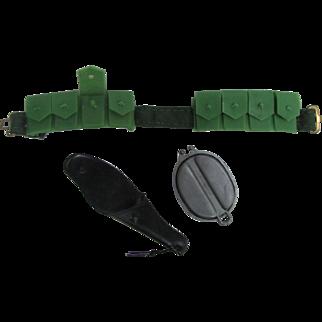 1960s G.I. JOE Accessories Weapons Belt Gun Holster Other