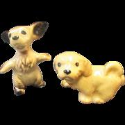 Christmas Sale 2 PC China Glass Animal Dog Puppy
