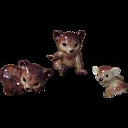 Christmas Sale 3 PC China or Glass Animal Brown Bears