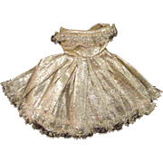 """Jill or other 10"""" Fashion Doll Silver Lame Off Shoulder Dress Panties"""