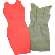 """2 Sheath Dresses for Tammy or other 12"""" Fashion Doll Blue Deep Pink"""