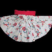 Vogue Jill Doll Lovely Cotton Off the Shoulder Patterned Dress