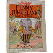 Antique Kellogg's Funny Jungleland Moving Pictures Book