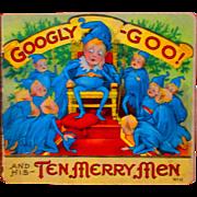 Antique Children's Christmas Book Googly Goo Santa Elves