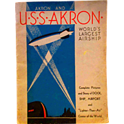 U.S.S. Akron World's Largest Aircraft Dirigible Zeplin Ohio City Book