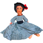 """17.5"""" Fashionable Black Americana Lady Doll Mid to late 20th Century"""