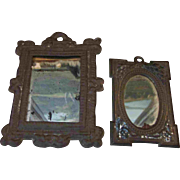 PR Miniature Metal Mirrors for Doll or Dollhouse