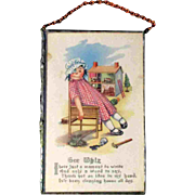 "3.5 x 5.5"" Framed Hanging Raggedy Ann Gee Whiz Postcard"