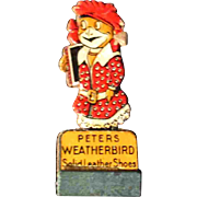 "2.75"" Peters Weatherbird Solid Leather Shoes Token Sign"