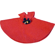 """Factory Made Red Felt Dress for Ginny or other 8"""" Doll"""